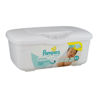 Pampers Baby Wipes Sensitive 64CT Bin product image