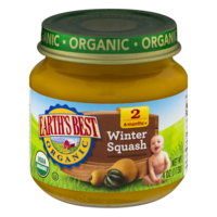 Earth's Best Organic Baby Food 2nd Winter Squash 4oz. Jar product image
