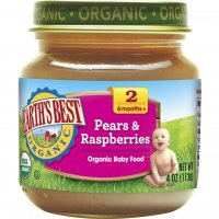 Earth's Best Organic Baby Food 2nd Pears and Raspberries 4oz. Jar product image