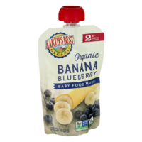 Earth's Best Organic Baby Food Puree Banana Blueberry 4oz Pouch product image