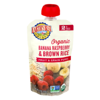 Earth's Best Organic Banana Raspberry Brown Rice Fruit & Grain Puree 4.2oz Pouch product image