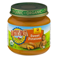 Earth's Best Organic Baby Food 2nd Sweet Potatoes 4oz Jar product image