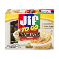 Jif To Go Natural Creamy Peanut Butter  8Pk 12oz PKG product image