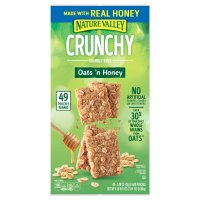 Nature Valley Crunchy Granola Bars 100% Natural Oats 'N Honey 49 Bars 73.1oz. Box product image