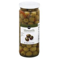 Store Brand Thrown Spanish Olives Stuffed with Minced Pimiento Manzanilla 10oz Jar product image