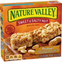 Nature Valley Sweet & Salty Nut Peanut Granola Bars 6 Bars 7.4oz product image