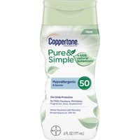 Coppertone Pure & Simple SPF 50 SunScreen Lotion 6floz BTL product image