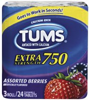 Tums Extra Strength 750 Assorted Fruit  3 Roll Pack product image
