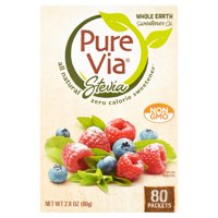 Pure Via Stevia Sweetener 80 Packet Box product image