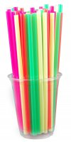 Store Brand Neon Straws 125 Count product image