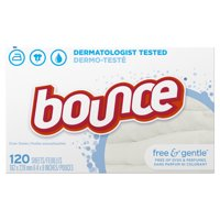 Bounce Fabric Softener Sheets Free & Gentle 120CT product image