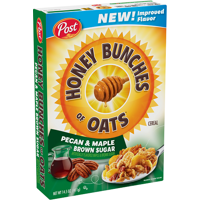 Post Honey Bunches of Oats with Pecan & Maple Brown Sugar 14.5oz Box product image