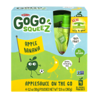 Materne GoGo Squeez Apple Banana Applesauce On The Go 3.2oz Pouch 4PK product image