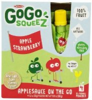 Materne GoGo Squeez Apple Strawberry Applesauce On The Go 3.2oz Pouch 4PK product image