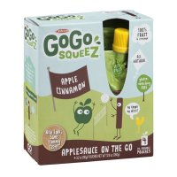 Materne GoGo Squeez Apple Cinnamon Applesauce On The Go 3.2oz Pouch 4PK product image