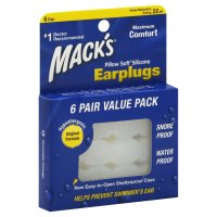 Mack's Pillow Soft Earplugs 6 Pair Value Pack product image