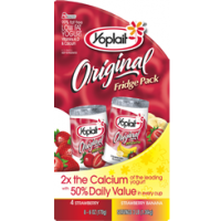Yoplait Original Yogurt Lowfat Strawberry & Strawberry Banana 8CT of 6oz Cups product image