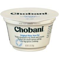 Chobani Non-Fat Greek Yogurt Plain 5.3oz Cup product image