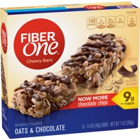 General Mills Fiber One Chewy Bars Oats & Chocolate 5CT 7oz Box product image