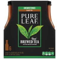 Pure Leaf Brewed Tea Unsweetened Black Tea 16.9oz 6Count product image