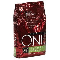 Purina ONE Dry Dog Food Rice and Lamb 8LB Bag product image
