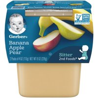 Gerber 2nd Foods Bananas Apples & Pears 4oz 2PK product image