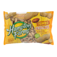 Hampton Farms Roasted UnSalted Peanuts In The Shell 24oz Bag product image