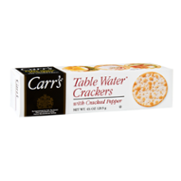 Carr's Table Water Crackers With Cracked Pepper 4.25oz Box product image