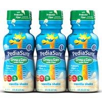 PediaSure Nutrition Beverage with Fiber Vanilla Shake 6PK of 8oz BTLS product image