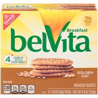 Nabisco belVita Golden Oat Breakfast Biscuits 5 Packs Box product image