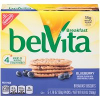 Nabisco belVita Blueberry Breakfast Biscuits 5 Packs Box product image