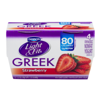 Dannon Light & Fit Greek Nonfat Yogurt Strawberry 5.3oz EA 4PK product image