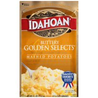 Idahoan Mashed Potatoes Buttery Golden Selects 4.1oz PKG product image