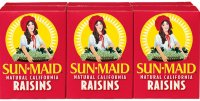 Sun Maid Natural California Snack Raisins 6PK 1oz Boxes product image