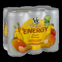 V8 V-Fusion Energy Drink Peach Mango 6Pk 8oz Cans product image