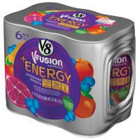 V8 V-Fusion Energy Drink Pomegranate Blueberry 6Pk 8oz Cans product image