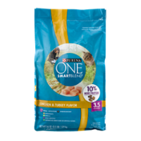 Purina ONE Dry Cat Food Chicken, Turkey & Rice 3.5LB Bag product image