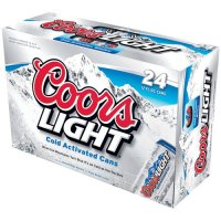 Coors Light Beer Suitcase 24CT 12oz Cans *ID Required* product image