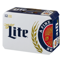 Miller Light Beer 12CT 12oz Cans *ID Required* | Garden Grocer