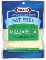Kraft Fat Free Shredded Mozzarella Cheese 7oz PKG product image