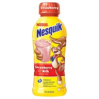 Nestle Nesquik Strawberry Milk 14oz BTL product image