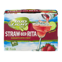 Bud Light Lime Straw-Ber-Rita Beer 12CT 8oz Cans *ID Required* product image