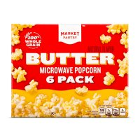 Store Brand Butter Flavor Microwave Popcorn 6 Pack of 2.3oz Bags product image