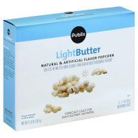 Store Brand Light Butter Microwave Popcorn 6 Pack of 2.1oz Bags product image