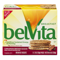Nabisco belVita Cinnamon Brown Sugar Breakfast Biscuits 5 Packs Box product image