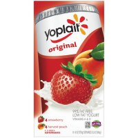 Yoplait Yogurt Strawberry & Harvest Peach 8CT of 6oz Cups product image