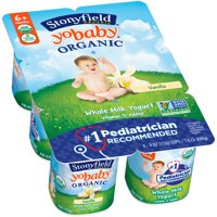 Stonyfield Farm YoBaby Yogurt Vanilla 6CT PKG 24oz product image