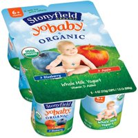 Stonyfield Farm YoBaby Yogurt Blueberry/Apple 6CT PKG 24oz product image