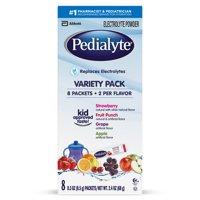 Pedialyte Oral Electrolyte Powder 8Pk Variety 2.4oz Box product image