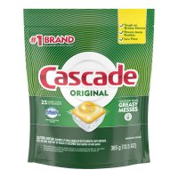 Cascade Auto Dish Detergent with Dawn Lemon Scent Actionpacs 25CT product image
